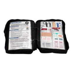First Aid Only Survival First Aid Kit, 12in.H x 7 1/2in.W x 2 1/2in.D, Black