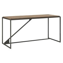 Bush Furniture Refinery Industrial Desk, 62in.W, Rustic Gray, Standard Delivery