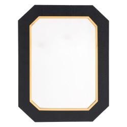 Zuo Modern Asti Octagonal Mirror, Black