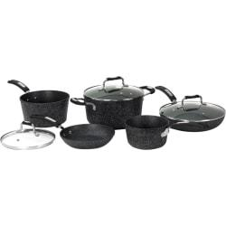 Starfrit The Rock 8-Piece Cookware Set with Bakelite Handles