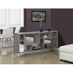 Monarch Specialties Open-Concept TV Stand For TVs Up To 60in., Dark Taupe