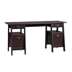 Sauder(R) Stockbridge Executive Trestle Desk, Jamocha Wood