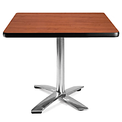 OFM Multipurpose Folding Table, 29 1\/2in.H x 36in.W x 36in.D, Cherry