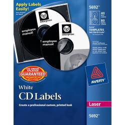 Avery(R) Laser CD/DVD Labels, Pack Of 40