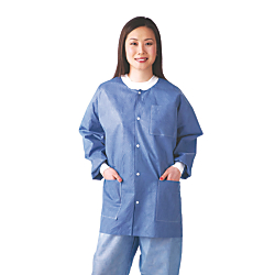 Medline Multilayer Lab Jackets, Large, White, Case Of 30
