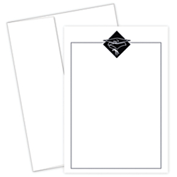 Great Papers! Graduation Invitation Kit, 5 1/2in. x 7 3/4in., Grad Hat, Black/White, Pack Of 20