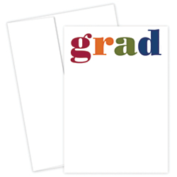 Great Papers! Graduation Invitation Kit, 5 1/2in. x 7 3/4in., Colorful Grad, Multicolor, Pack Of 25