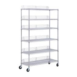 Honey-Can-Do Urban Steel Adjustable Shelving Unit, 6-Tiers, Chrome