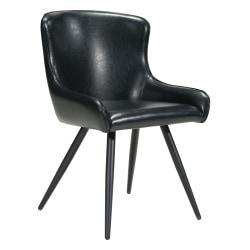 Zuo Modern Dresden Dining Chairs, Black, Set Of 2