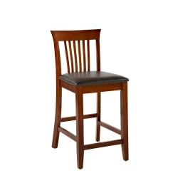Linon Home Decor Products Triena Craftsman Counter Stool, 24in.H, Dark Brown/Dark Cherry