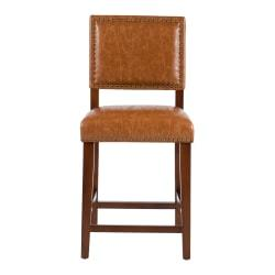 Linon Home Decor Products Brook Counter Stool, Caramel/Medium Walnut