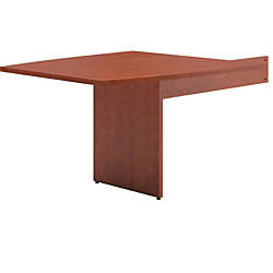 basyx by HON(R) BL Series Boat-Shaped Table End For Conference Table, Medium Cherry