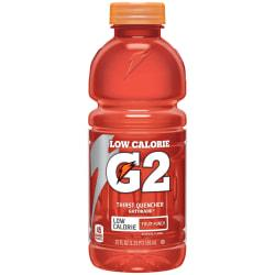 Gatorade G2 Low-Calorie Thirst Quencher, Fruit Punch, 20 Oz, Pack Of 24