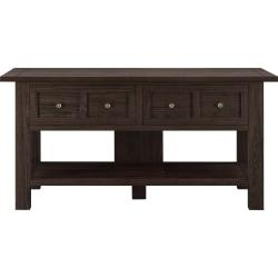 Ameriwood(TM) Home Pillars Apothecary Console Table For Flat-Screen TVs Up To 55in., Brown