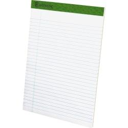 TOPS Recycled Perforated Legal Writing Pads - 50 Sheets - 0.34in. Ruled - 15 lb Basis Weight - 8 1/2in. x 11 3/4in. - Environmentally Friendly, Perforated - Rec