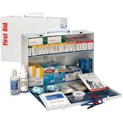 First Aid Only 2-Shelf First Aid Station, 11in.H x 15 5/16in.W x 4 1/2in.D, White