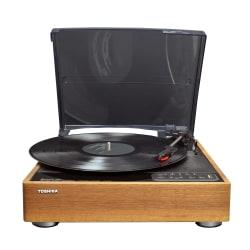 Toshiba BluetoothR Turntable, 11.8in.H x 11.8in.W x 2in.D, Wood, TY-LP30
