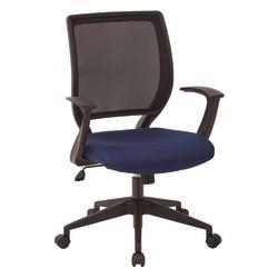 Office Star(TM) Work Smart Mesh Task Chair, Navy/Black