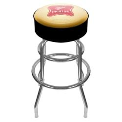 Trademark Global Miller Padded Bar Stool, High Life, Chrome