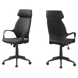 Monarch Specialties High-Back Office Chair, Black