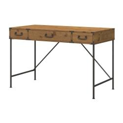 kathy ireland(R) Office by Bush Furniture Ironworks Writing Desk, Vintage Golden Pine, Standard Delivery
