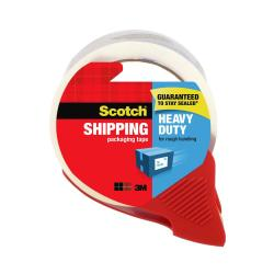 Scotch(R) Heavy-Duty Shipping Packing Tape With Dispenser, 1.88in. x 54.6 Yd., Clear