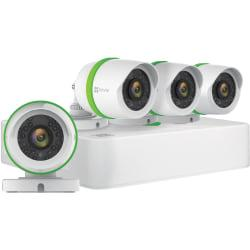 EZVIZ Home 8-Channel Surveillance System with 4 Weather-Resistant Full-HD 1080p Cameras And 1TB Hard Drive, EZVBD2824B1