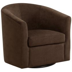 Monarch Specialties Swivel Club Chair, Dark Brown/Black