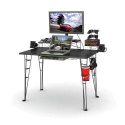 Atlantic Gaming Desk, 40in.H x 50in.W x 24 1/2in.D, Black
