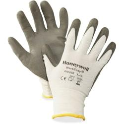 NORTH Safety Workeasy Dyneema Cut Resist Gloves - Polyurethane Coating - Large Size - High Performance Polyethylene (HPPE) Liner - Gray, Light Gray - Cut Resist
