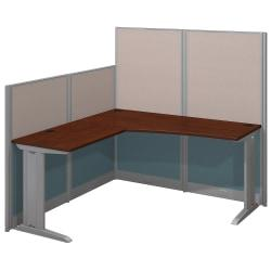 Bush Business Furniture Office In An Hour L Workstation, Hansen Cherry Finish, Standard Delivery