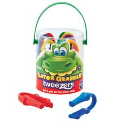 Learning Resources(R) Gator Grabber Tweezers, 4in., Assorted Colors, Pre-K - Grade 1, Pack Of 12
