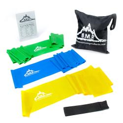 Black Mountain Products Therapy Exercise Bands, 5ft. Long, Assorted Colors, Set Of 3