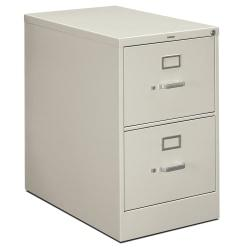 HON(R) 210-Series Vertical Filing Cabinet, Legal Size, 2 Drawers, 29in.H x 18 1/4in.W x 28 1/2in.D, Light Gray