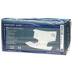 Comfort-Aire Disposable Briefs. Medium, 32 - 42in., Beige, 24 Briefs Per Bag, Case Of 4 Bags