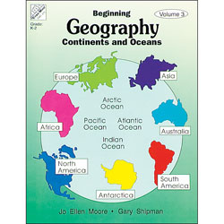 Evan Moor Beginning Geography Series Continents And Oceans by fice