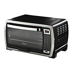 Oster Convection Toaster Oven With Broiler, Black/Stainless Steel