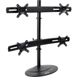 Tripp Lite Quad Display TV Desk Mount Monitor Stand Swivel Tilt 10in. to 26in. Flat Screen Displays