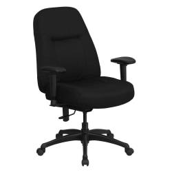 Flash Furniture HERCULES Big Tall Fabric High-Back Swivel Office Chair With Extra Wide Seat, Black