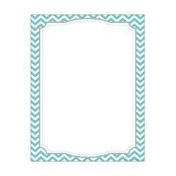 Barker Creek Computer Paper, 8 1/2in. x 11in., Turquoise Chevron, Pack Of 50 Sheets