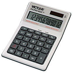 Victor 99901 TuffCalc Calculator - Extra Large Display, Angled Display, Water Proof, Shock Resistant, Battery Backup, 3-Key Memory, Independent Memory, Dual Pow