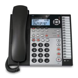 ATT 1080 4-Line Corded Expandable Speakerphone With Digital Answering System, Charcoal