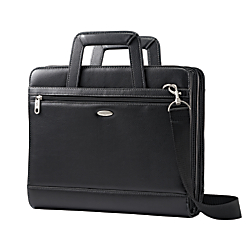 Samsonite(R) Vinyl 3-Ring Padfolio, Black