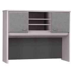 Bush Business Furniture Office Advantage Hutch 48in.W, Pewter/Pewter, Premium Installation
