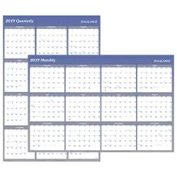 AT-A-GLANCE(R) XL Vertical/Horizontal Erasable Yearly Wall Planner, 32in. x 48in., Blue, January to December 2019 -  A1152-19