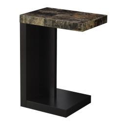 Monarch Specialties Modern End Table, Dark/Cappuccino