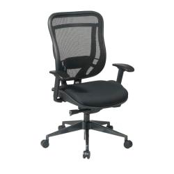 Office Star(R) SPACE(TM) Big Tall High-Back Mesh Chair, Black/Gunmetal