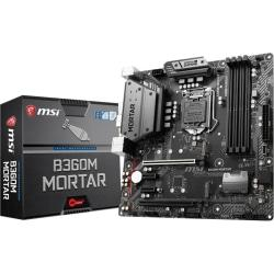 MSI B360M MORTAR Desktop Motherboard - Intel Chipset - Socket H4 LGA-1151