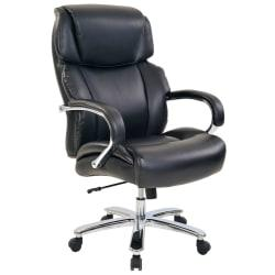Realspace(R) Brevington Big Tall Bonded Leather High-Back Chair, Black