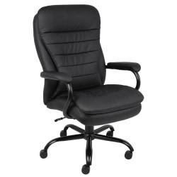 Boss Heavy-Duty Big Tall Executive High-Back Chair, Black
